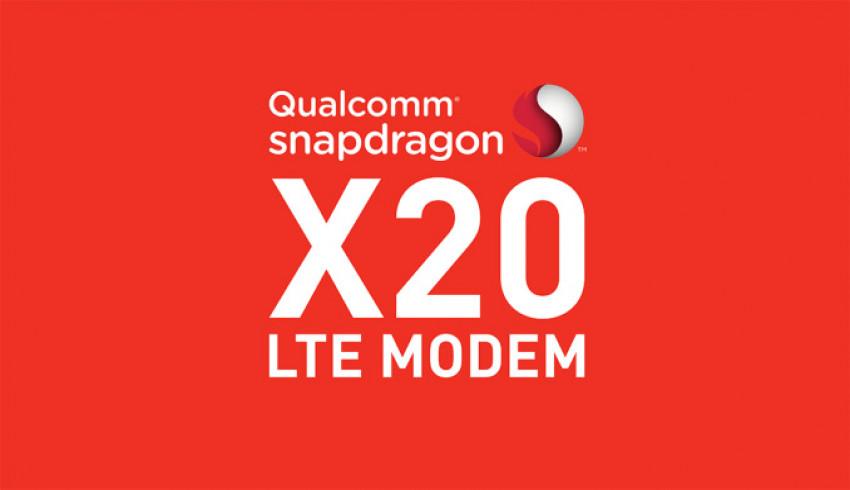 Download မြန်နှုန်း 1.2Gbps အထိရရှိမယ့် X20 LTE modem ကို Qualcomm ကို မိတ်ဆက်